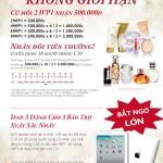 Oriflame 10-2012: Phần thưởng mới dành cho tư vấn viên Oriflame