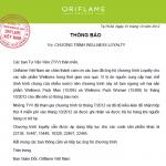 Oriflame thông báo tạm ngưng chương trình Wellness Loyalty