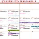 Lịch huấn luyện của Oriflame trong tháng 6-2013