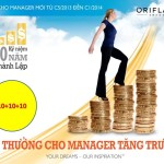 Tiền Thưởng Dành Cho Manager Tăng Trưởng Của Oriflame