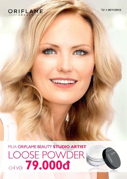 Oriflame 11-2012: Mua phấn phủ Oriflame Beauty Studio Artist Loose Powder chỉ với 79.000đ